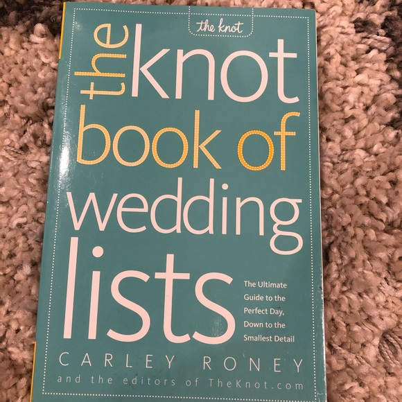 Other - THE KNOT WEDDING LIST BOOK